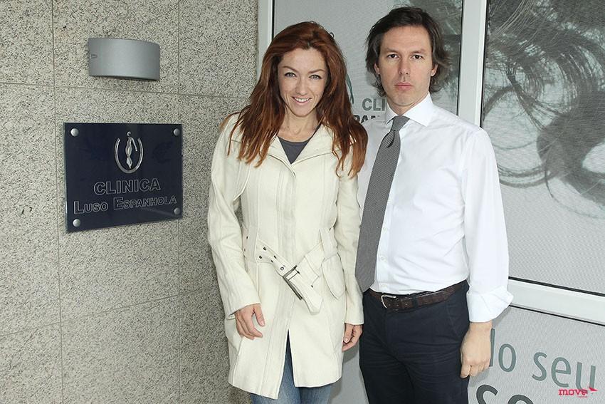 Raquel Henriques com o Dr. Álvaro Sá