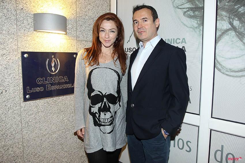 Raquel Henriques com o Dr. Emilio Valls